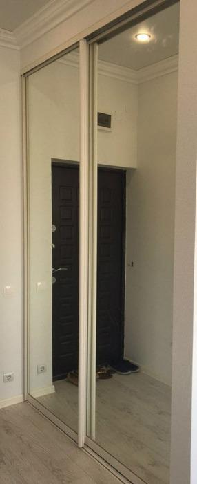 Белые шкафы-купе-Шкаф-купе с зеркалом «Модель 218»-фото1