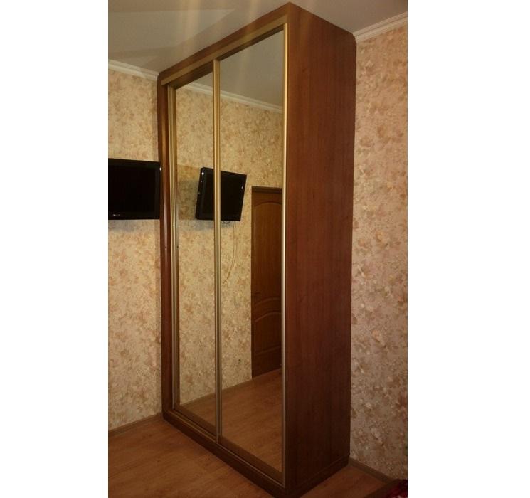 Двухдверный шкаф-купе-Шкаф-купе с зеркалом «Модель 186»-фото1