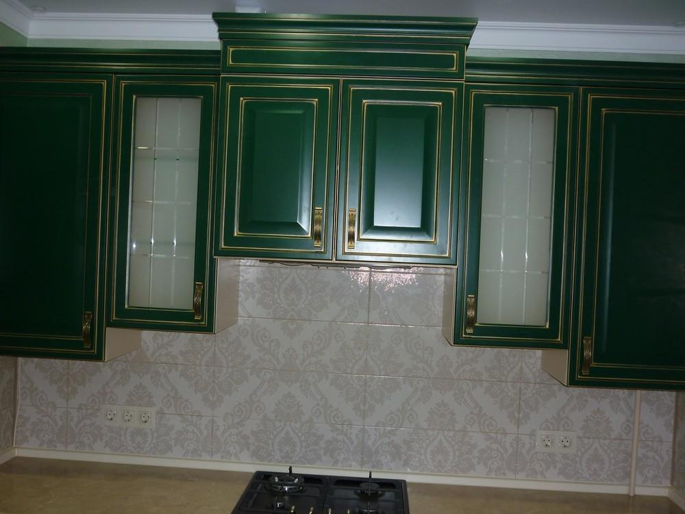 Встроенная кухня-Кухня МДФ в эмали «Модель 214»-фото3