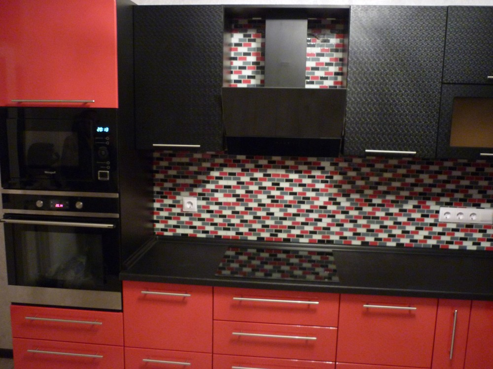 Встроенная кухня-Кухня из пластика «Модель 217»-фото2