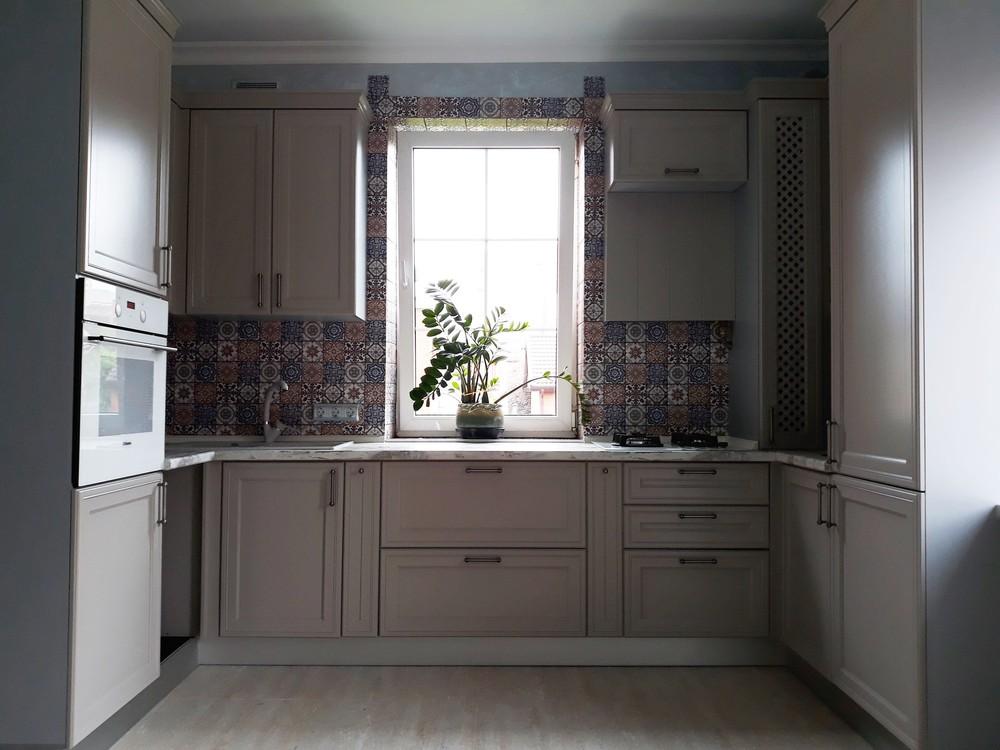 Встроенная кухня-Кухня МДФ в эмали «Модель 283»-фото1