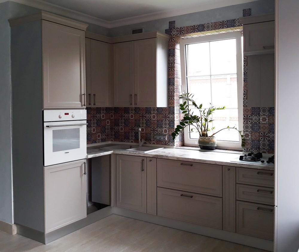 Встроенная кухня-Кухня МДФ в эмали «Модель 283»-фото3