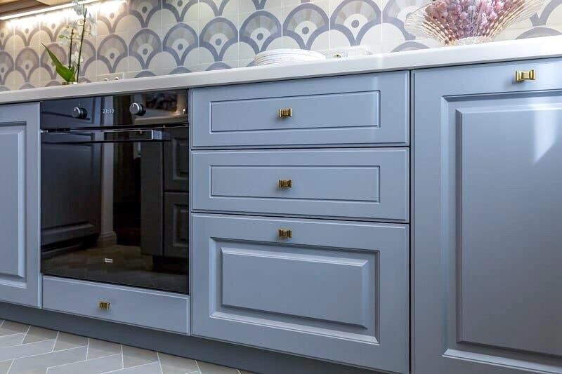 Встроенная кухня-Кухня МДФ в эмали «Модель 420»-фото4