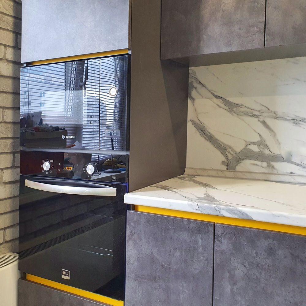 Встроенная кухня-Кухня МДФ в ПВХ «Модель 536»-фото6