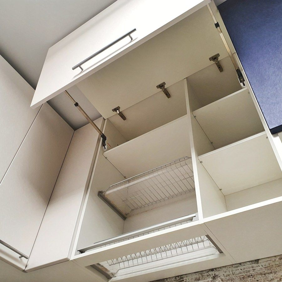 Белый кухонный гарнитур-Кухня МДФ в ПВХ «Модель 555»-фото3