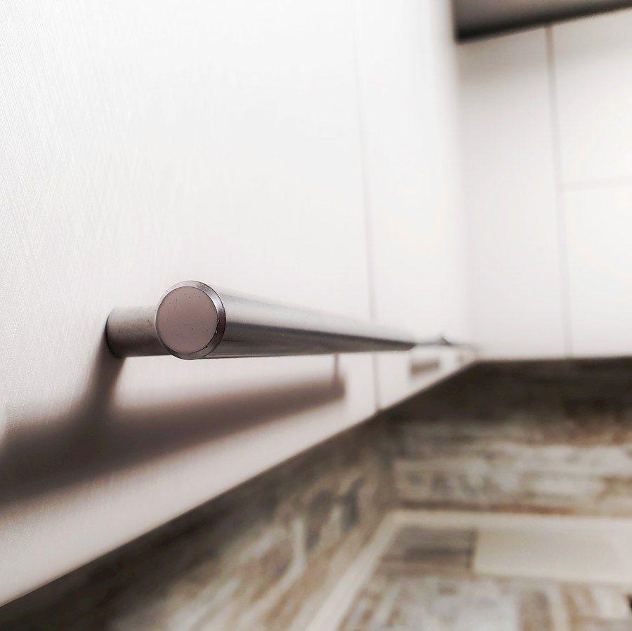 Белый кухонный гарнитур-Кухня МДФ в ПВХ «Модель 555»-фото7