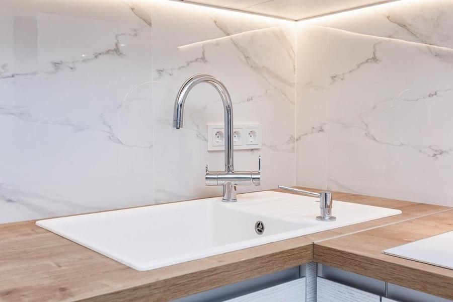 Белый кухонный гарнитур-Кухня из ЛДСП «Модель 583»-фото6
