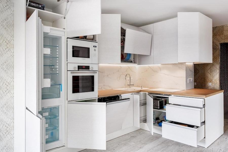 Белый кухонный гарнитур-Кухня из ЛДСП «Модель 583»-фото3