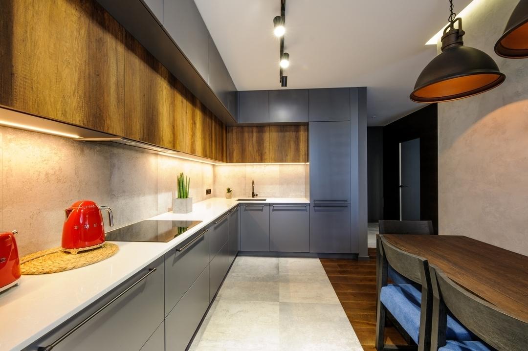 Купить кухню-Кухня МДФ в ПВХ «Модель 605»-фото2