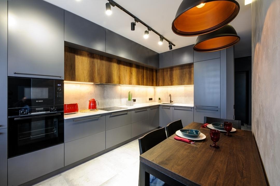 Купить кухню-Кухня МДФ в ПВХ «Модель 605»-фото1