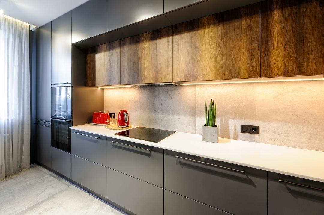 Купить кухню-Кухня МДФ в ПВХ «Модель 605»-фото4