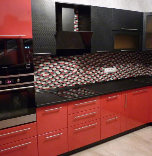 Встроенная кухня-Кухня из пластика «Модель 217»-фото3