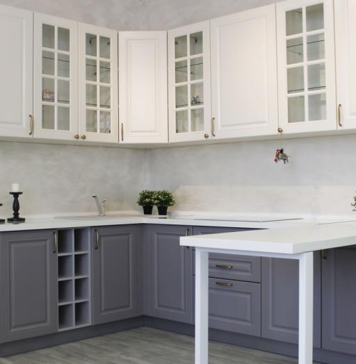 -Кухня МДФ в ПВХ «Модель 282»-фото1