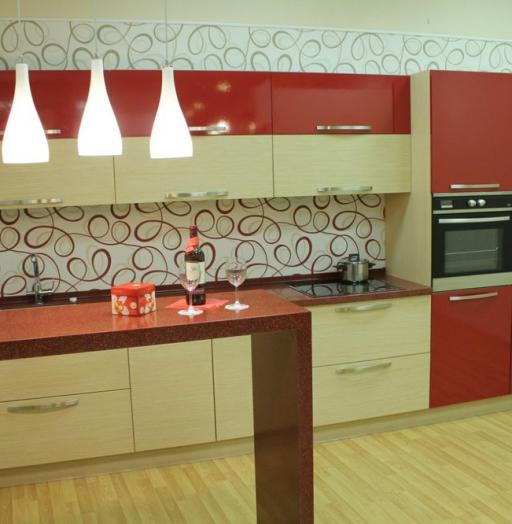 -Кухня из пластика «Модель 129»-фото18